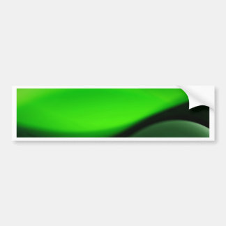 Decorative Green Abstract Waves Digital Art Bumper Stickers