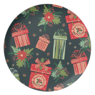 Decorative green Christmas Plate