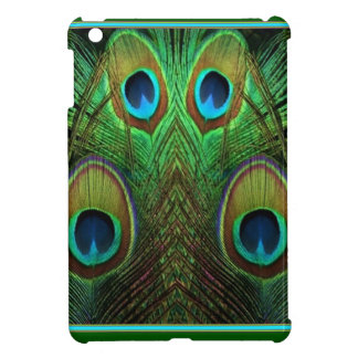 Decorative Green Peacock Feather Eyes iPad Mini Case