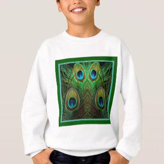 Decorative Green Peacock Feather Eyes Sweatshirt