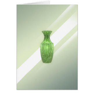 Decorative Green Vase Card