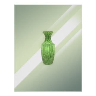 Decorative Green Vase Poster