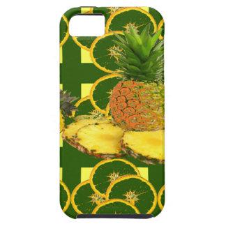 DECORATIVE GREEN-YELLOW GEOMETRIC PINEAPPLE iPhone 5 COVER