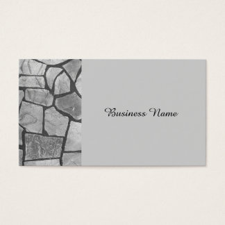 Decorative Grey Stone Paving Look Business Card