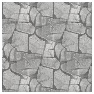 Decorative Grey Stone Paving Look Fabric