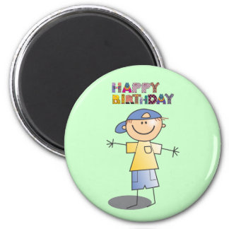 Decorative Happy Birthday for Little Boy Magnet