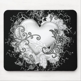 Decorative Heart Mouse Pad