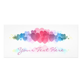 Decorative Hearts Rack Card
