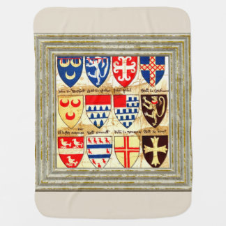 Decorative Heraldry Pattern Baby Blanket