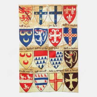 Decorative Heraldry Pattern Hand Towels
