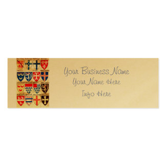 Decorative Heraldry Pattern Pack Of Skinny Business Cards