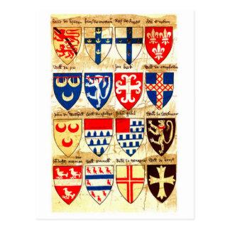 Decorative Heraldry Pattern Postcard