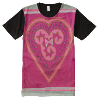 Decorative Hmong Heart Pattern Graphic Tee