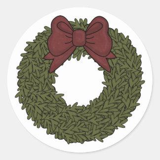 Decorative Holiday Wreath Sticker