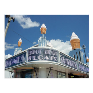 Decorative Ice Cream Stand Postcard