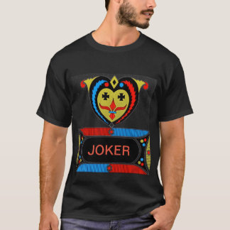 Decorative Joker Design Men's Basic Black T-Shirt