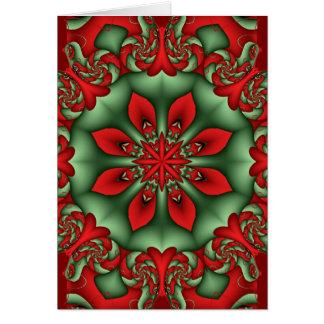 Decorative kaleidoscope Christmas card with Text