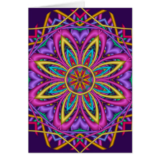 Decorative Kaleidoscope Happy Birthday card