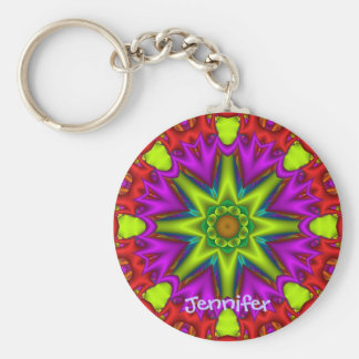 Decorative kaleidoscope Keychain with name