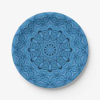 Decorative Knot Colorful Paper Plates 7 Inch Paper Plate
