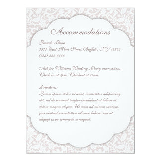 Decorative Lace Details Program Menu Card