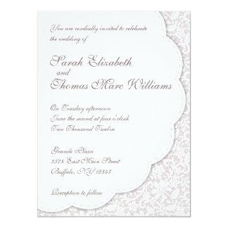 """Decorative Lace Wedding Invitation 6.5"""" X 8.75"""" Invitation Card"""