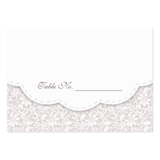 Decorative Lace Wedding Table Place Card Large Business Cards (Pack Of 100)