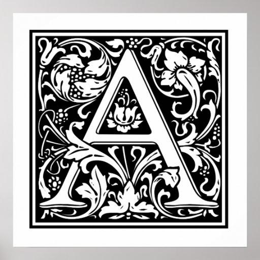 Decorative Letter A Print
