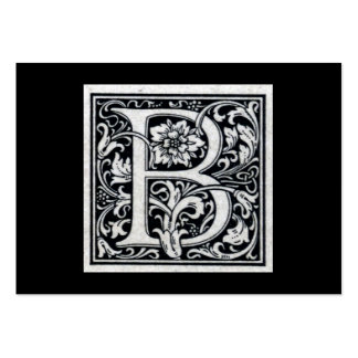 "Decorative Letter ""B"" Woodcut Woodblock Inital Large Business Cards (Pack Of 100)"