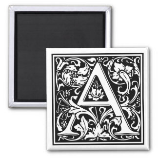 "Decorative Letter Initial ""A"" Magnet"