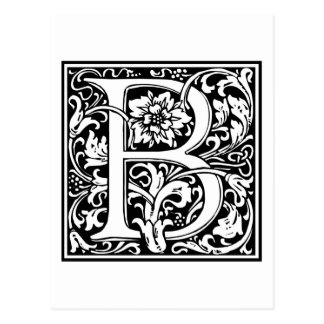 "Decorative Letter Initial ""B"" Postcard"