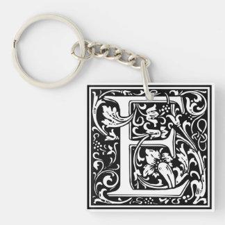 """DecorativeLetter Initial """"E"""" Key Ring"""