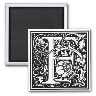 "DecorativeLetter Initial ""F"" Square Magnet"