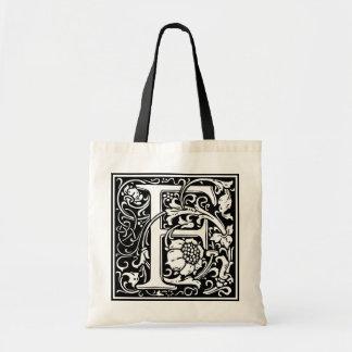 "DecorativeLetter Initial ""F"" Tote Bag"
