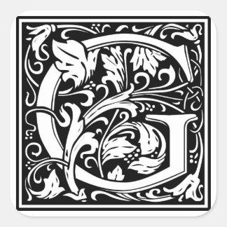 "DecorativeLetter Initial ""G"" Stickers"