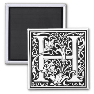 "DecorativeLetter Initial ""H"" Square Magnet"