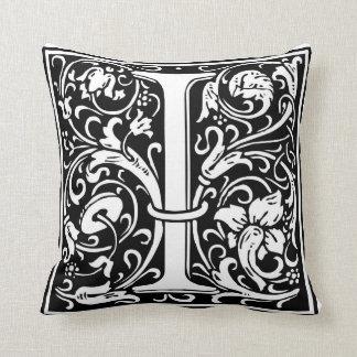 "DecorativeLetter Initial ""I"" Throw Pillow"
