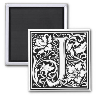 "Decorative Letter Initial ""J"" Magnet"