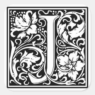 "DecorativeLetter Initial ""J"" Square Sticker"