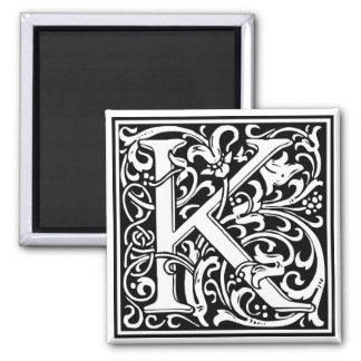 "Decorative Letter Initial ""K"" Magnet"