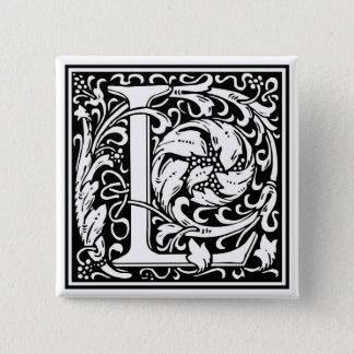 """DecorativeLetter Initial """"L"""" 15 Cm Square Badge"""