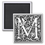 "DecorativeLetter Initial ""M"" Refrigerator Magnet"