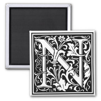 "Decorative Letter Initial ""N"" Magnet"
