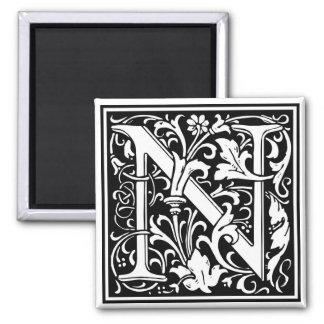 "DecorativeLetter Initial ""N"" Magnet"