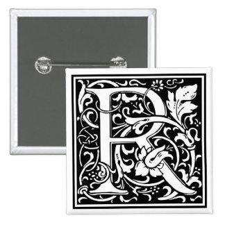 """DecorativeLetter Initial """"R"""" 15 Cm Square Badge"""