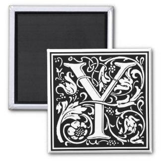 "Decorative Letter Initial ""Y"" Magnet"