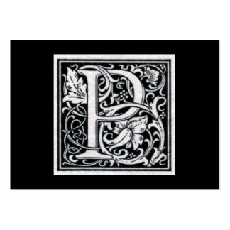 """Decorative Letter """"P"""" Woodcut Woodblock Initial Pack Of Chubby Business Cards"""
