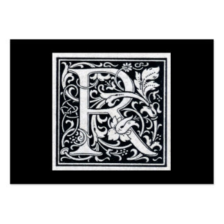 """Decorative Letter """"R"""" Woodcut Woodblock Initial Pack Of Chubby Business Cards"""