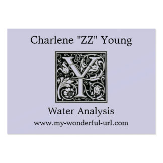 """Decorative Letter """"Y"""" Woodcut Woodblock Initial Pack Of Chubby Business Cards"""