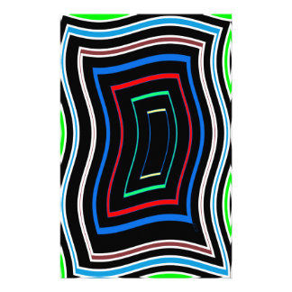 Decorative Line Graphics Colorful Art on Gifts FUN Stationery